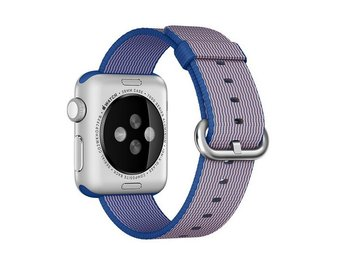 Blå 38mm Watch Bands Royal Woven Nylon Band Armband For Apple iWatch