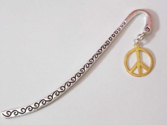 Fred bokmärke / Peace sign bookmark