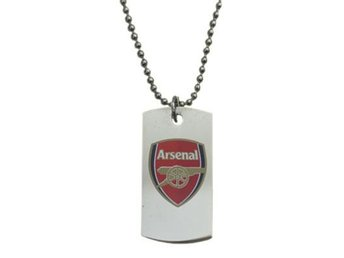 Arsenal ID-bricka med kedja Coloured