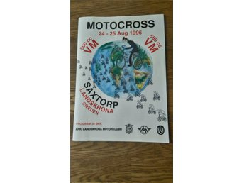 Motocross 1996 Saxtorp program