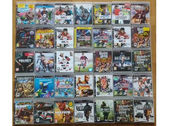 35 spel PlayStation 3 PS3 Call of Duty Uncharted Gran Turismo GTA Battlefield
