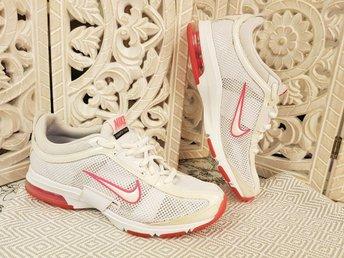 ?kta Nike Skor Fina Air Max Diamond FLX Vita Rosa stl 38 Tr?ningsskor Sneakers