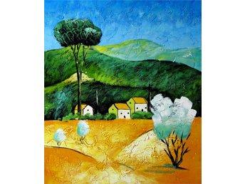 Landskap, oljemålning på duk, 50x60 cm - Tollarp - Landskap, oljemålning på duk, 50x60 cm - Tollarp
