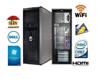 DELL 780 Wi-Fi + HDMI mini tower , 1-3 månader Garanti