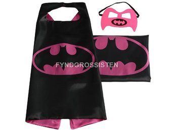 Mantel + Mask Batman Batgirl Fri Frakt Helt Ny