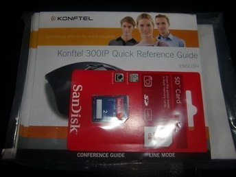 KONFTEL 300IP QUICK REFERENCE GUIDE BRUKSANVISNING