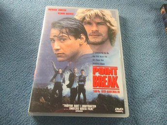 POINT BREAK PATRICK SWAYZE DVD 1991 SVENSK TEXT