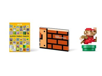 Super Mario Maker with Artbook and Mario Amiibo Figurine (Saknar Papplåda) - Wii
