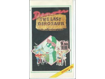 DENVER THE LAST DINOSAUR - VHS ( SVENSKT TAL )