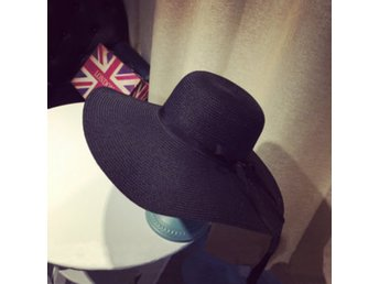 Women Girls Straw Floppy Bowknot Ribbon Wide Brim Hat Sum...