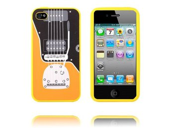 Rock Guitar (Gul) iPhone 4/4S Skal