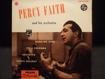 EP - PERCY FAITH. Bubbling over + 3. 1955