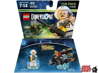 Lego Dimensions Back to the Future Doc Brown Fun Pack 71230