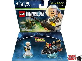 Lego Dimensions Back to the Future Doc Brown Fun Pack 71230 - Norrtälje - Lego Dimensions Back to the Future Doc Brown Fun Pack 71230 - Norrtälje