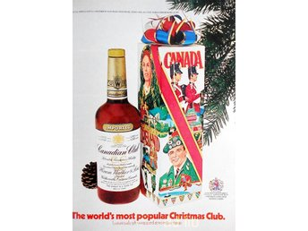 CANADIAN CLUB, TIDNINGSANNONS Retro 1973