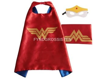 Mantel + Mask Wonderwoman Fri Frakt Helt Ny