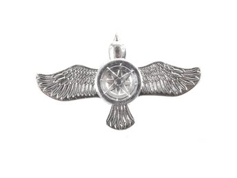 Två Vingad Fidget Spinner Flying Bird - Silver