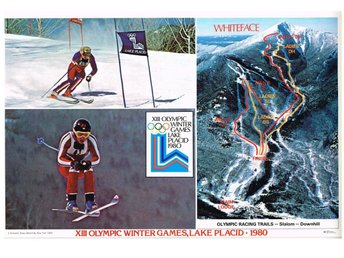 XIII OLYMPIC WINTER GAMES LAKE PLACID 1980 - WHITEFACE - Bordstablett 29x44 cm