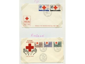 LOT T3627 RED CROSS - RÖDA KORSET  / UK, FINLAND / TVÅ ILLUSTRERADE  BREV.