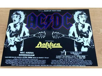 AC/DC U.K. TOUR 1988 PHOTO POSTER