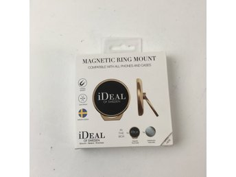 iDeal of Sweden, Mobiltillbehör, Magnetic Ring Mount, Guldfärgad
