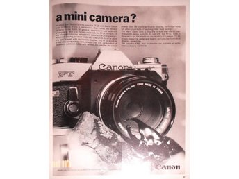 CANON FT - A MINI CAMERA TIDNINGSANNONS Retro 1968