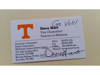 Dave Hart. Vice Chancellor. Director of Athletics. Tennessee - Lyckeby - Dave Hart. Vice Chancellor. Director of Athletics. Tennessee - Lyckeby