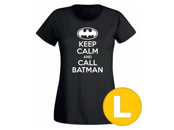 T-shirt Keep Calm Call Batman Svart Dam tshirt L