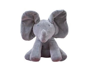 Elephant Plush Toy Elektronisk Flappy Elephant Play Dölj och sök Soft Doll