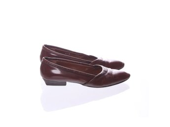 Footlight, Loafers, Strl: 38,5, Brun, Skinnimitation