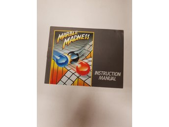 Marble Madness - Manual NES NINTENDO - USA