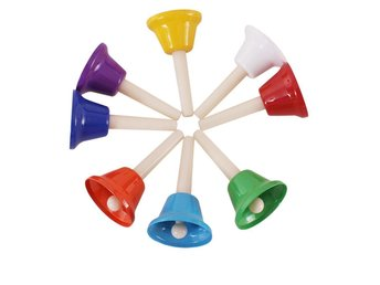 8st Rhythm Note Hand Bell Set Musical Instrument Percussion för Baby Kids New