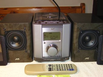 JVC  UX-1000 ULTRA MICRO COMPONENT SYSTEM Liten stereo med STOORT ljud! 2x30W