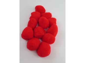 PomPoms röda 40mm 12-pack