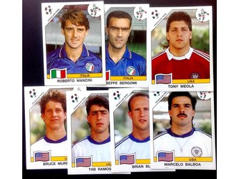 PANINIs  STICKERS - ITALY 90 -  ITALIAN and  USA  PLAYERS.