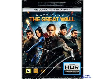THE GREAT WALL 4K ULTRA HD + BLU-RAY - NY INPLASTAD