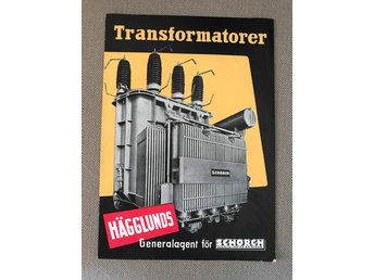 Hägglunds transformatorer Schorch antik broschyr retro