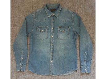 LEE JEANSSKJORTA SLIM FIT WESTERN DENIM SHIRT STL XL - NYSKICK!