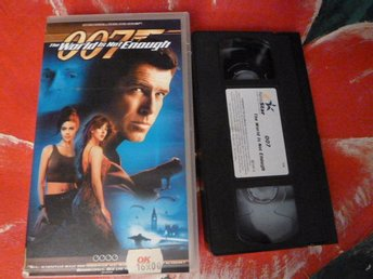 THE WORLD IS NOT ENOUGH, 007, VHS, FILM, 122 MIN., ACTION