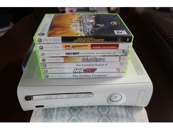 Xbox 360 konsoll vit 60GB inklusive 7 spel & tillbehör - Säffle - Xbox 360 konsoll vit 60GB inklusive 7 spel & tillbehör - Säffle