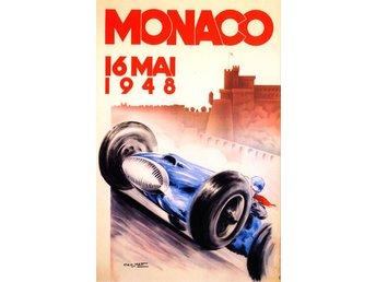 MONACO GRAND PRIX 1948 & 1955 EXTREM ART DÉCO Motorsport race 2 x A2 posters - Helsingborg - MONACO GRAND PRIX 1948 & 1955 EXTREM ART DÉCO Motorsport race 2 x A2 posters - Helsingborg