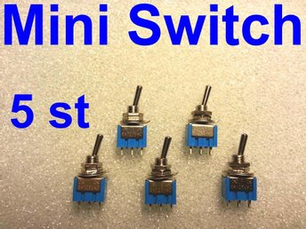 Mini Switch ON-ON (1 pol- 2 vägs) 5 st.