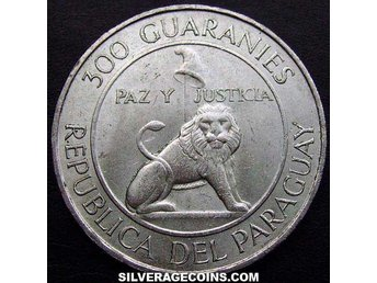 Paraguay 300 guaranies, 1968 4th Term of President Stroessn