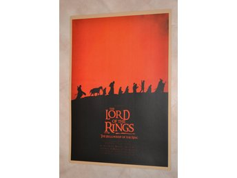 Lord of the Rings Sagan om Ringen Film Svart/Röd Poster Affisch 30*42cm Ny