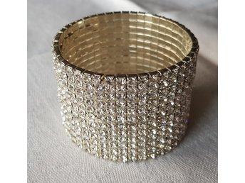 Brett armband strass (338042040) ᐈ Köp på Tradera 62be35ba71f7f