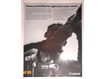 CANON AUTO ZOOM 518, 518-2 MOVIE CAMERA TIDNINGSANNONS Retro 1968
