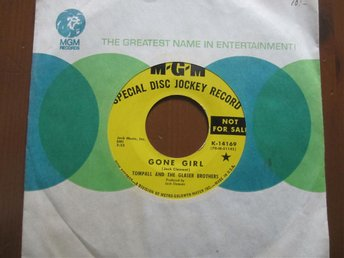 "Tompall and The Glaser Brothers ""Gone Girl"" DJ Record Special MGM"