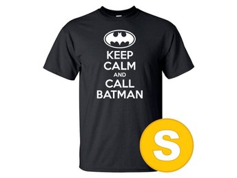 T-shirt Keep Calm Call Batman Svart herr tshirt S