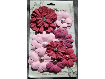 Fashion Flowers pappersblommor i rosa - Scrapbooking - Inkido - Lycksele - Fashion Flowers pappersblommor i rosa - Scrapbooking - Inkido - Lycksele