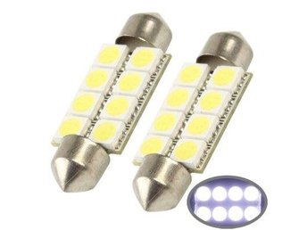 Diodlampa C5W 39mm 8 LED Vit - 2Pack
